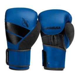 Hayabusa S4 Bokshandschoenen - Blauw - met Hayabusa Perfect Stretch Handwraps - Black - 4,5 meter