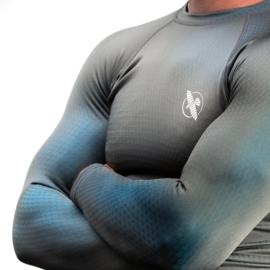 Hayabusa Fusion Rashguard - Gray / Aqua blue