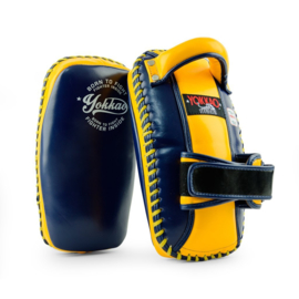 Yokkao Free Style Kicking Pads - Leer - Evening Blue, Gold