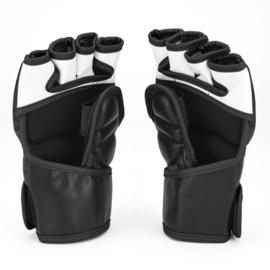 Sanabul Essential MMA Grappling Gloves - 4 oz - black, silver