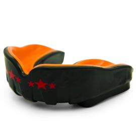 Yokkao Muay Thai Gebitsbeschermer - zwart en oranje - tot 12 jaar