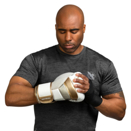 Hayabusa T3 Boxing Gloves - White / Gold