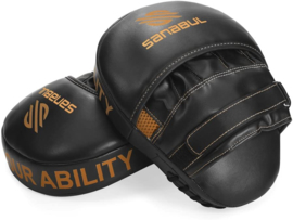Sanabul Essential Curved Punch Mitts - black, copper