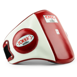 Yokkao Belly Pad -  Leer - Biking Red, Wit