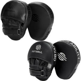 Sanabul Essential Curved Punch Mitts - black / silver
