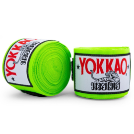 Yokkao Premium Muay Thai Handwraps - Neon Groen