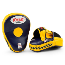 Yokkao Focus Mitts Closed Fingers - Leer - Evening Blue, Gold