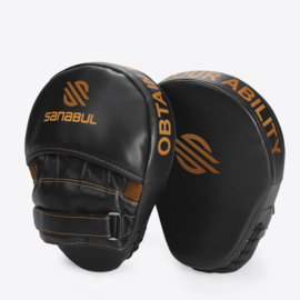 Sanabul Essential Curved Punch Mitts - zwart, koper