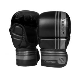Sanabul Core Series Hybride Handschoenen - 7 oz - zwart en metaal