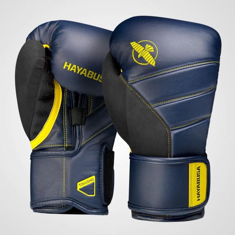 Hayabusa T3 Boxing Gloves - Navy Blue / Yellow
