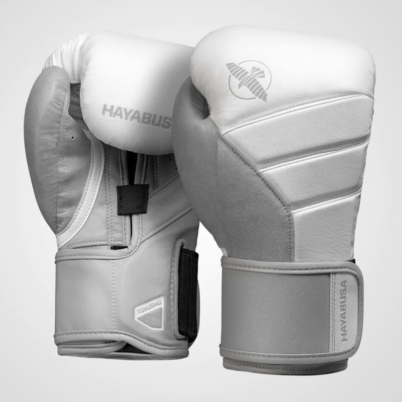 Hayabusa T3 Boxing Gloves - White / Gray