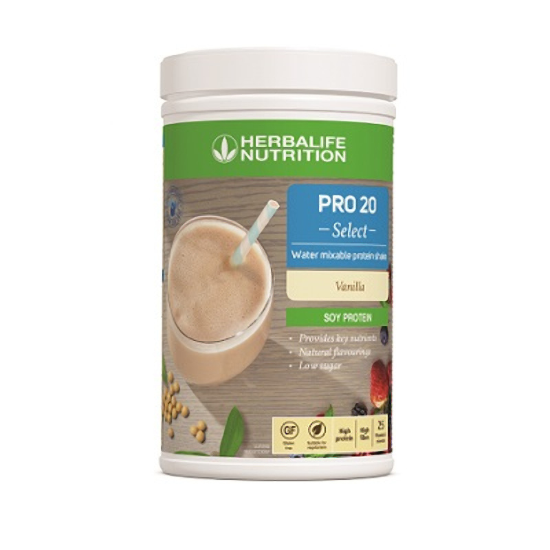 Pro 20 Select met water mengbare Protein Shake - Vanille (630 g)