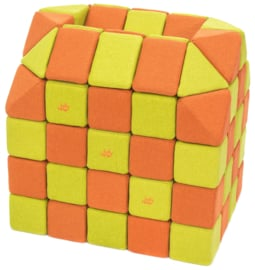 Magnetische blokken JollyHeap® - groen/oranje