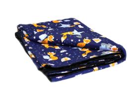 Cotton Blanket warm - Foxes night