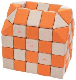 Magnetische Würfel JollyHeap® - hellgrau/orange