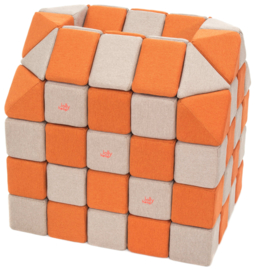 Magnetische blokken JollyHeap® - lichtgrijs/ oranje