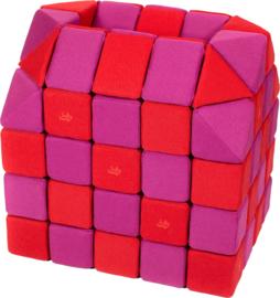 Magnetische blokken JollyHeap® - roze/rood