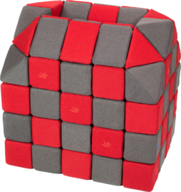 Magnetische blokken JollyHeap® - grijs/rood
