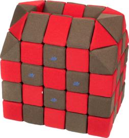Magnetische blokken JollyHeap® - bruin/rood