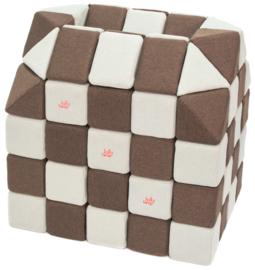 Magnetische blokken JollyHeap® - wit/bruin