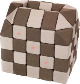 Magnetische blokken JollyHeap® - lichtgrijs/ bruin