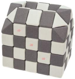 Magnetische blokken JollyHeap® - wit/grijs