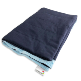 Weighted blanket 90 x 120 cm  | Elegant | Dark blue