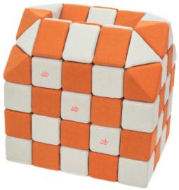 Magnetische Würfel JollyHeap® - weiß/orange