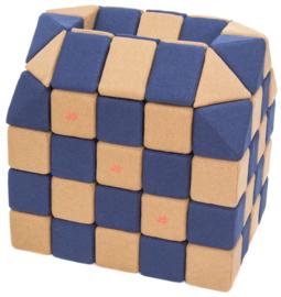 Magnetische blokken JollyHeap® - bruin/donkerblauw