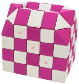 Magnetische Würfel JollyHeap® - weiß/rosa