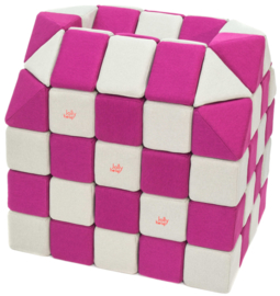 Magnetische blokken JollyHeap® - wit/roze