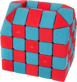 Magnetische blokken JollyHeap® - blauw/rood
