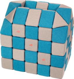 Magnetische blokken JollyHeap® - lichtgrijs/ blauw