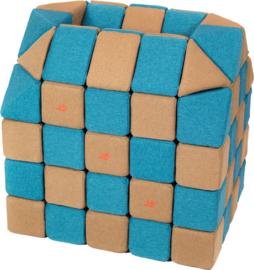 Magnetische blokken JollyHeap® - bruin/blauw