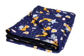 Weighted blanket | FUN | Foxes night 120 x 180 cm