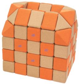 Magnetische blokken JollyHeap® - bruin/oranje