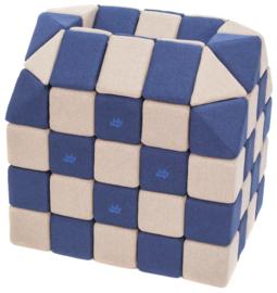Magnetische Würfel JollyHeap® - hellgrau/donkerblau