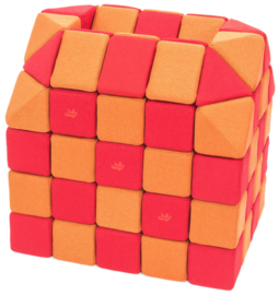 Magnetische blokken JollyHeap® - oranje/rood