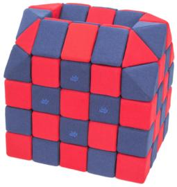 Magnetische blokken JollyHeap® - donkerblauw/rood