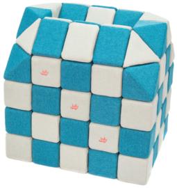 Magnetische blokken JollyHeap® - wit/blauw