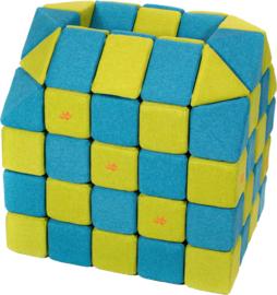 Magnetische blokken JollyHeap® - blauw/groen