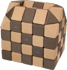 Magnetische blokken JollyHeap® - bruin/beige