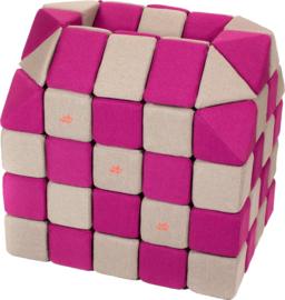 Magnetische blokken JollyHeap® - grijs/roze