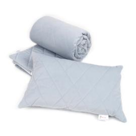 Bettdeckenbezug aus gestepptem Samt 200x200 cm