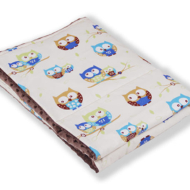 Weighted blanket | FUN |  Owls beige 120 x 180 cm