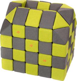 Magnetische blokken JollyHeap® - grijs/groen