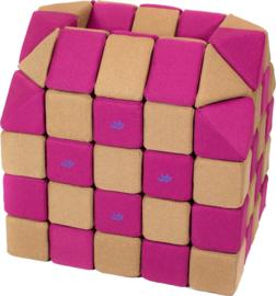Magnetische Würfel JollyHeap® - braun/rosa