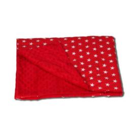 Gewichtsdecken 150 x 200 cm | Sterne Rot