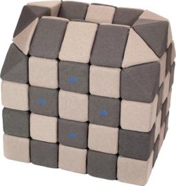 Magnetische blokken JollyHeap® - lichtgrijs/donkergrijs