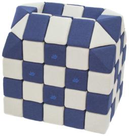Magnetische blokken JollyHeap® - wit/donkerblauw